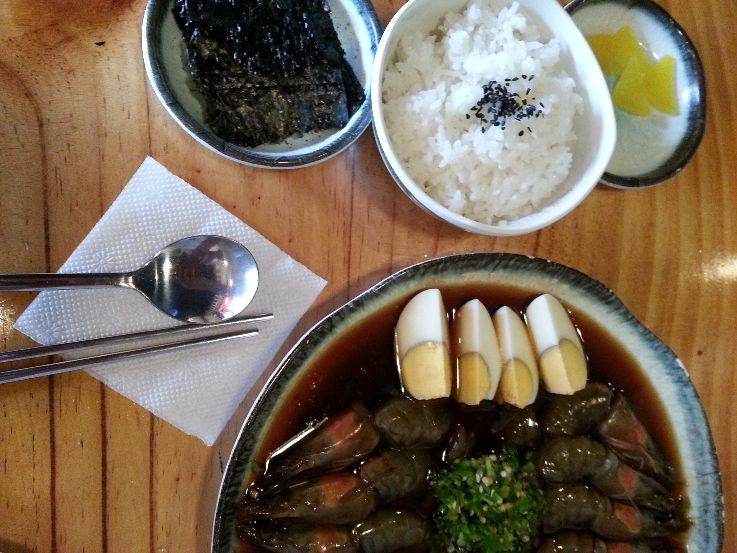 Authentic Korean Experience- Soy Sauce Shrimp!