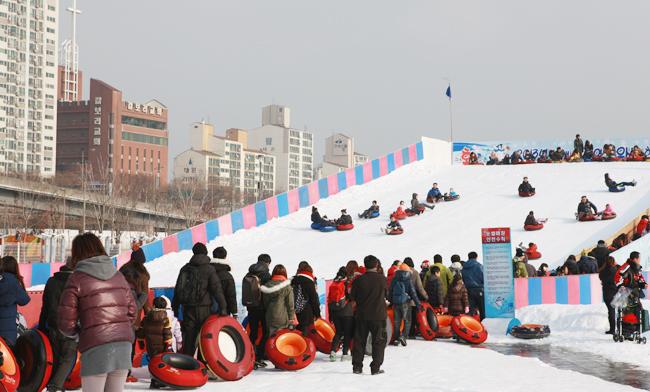yeoido hangang park slesddding