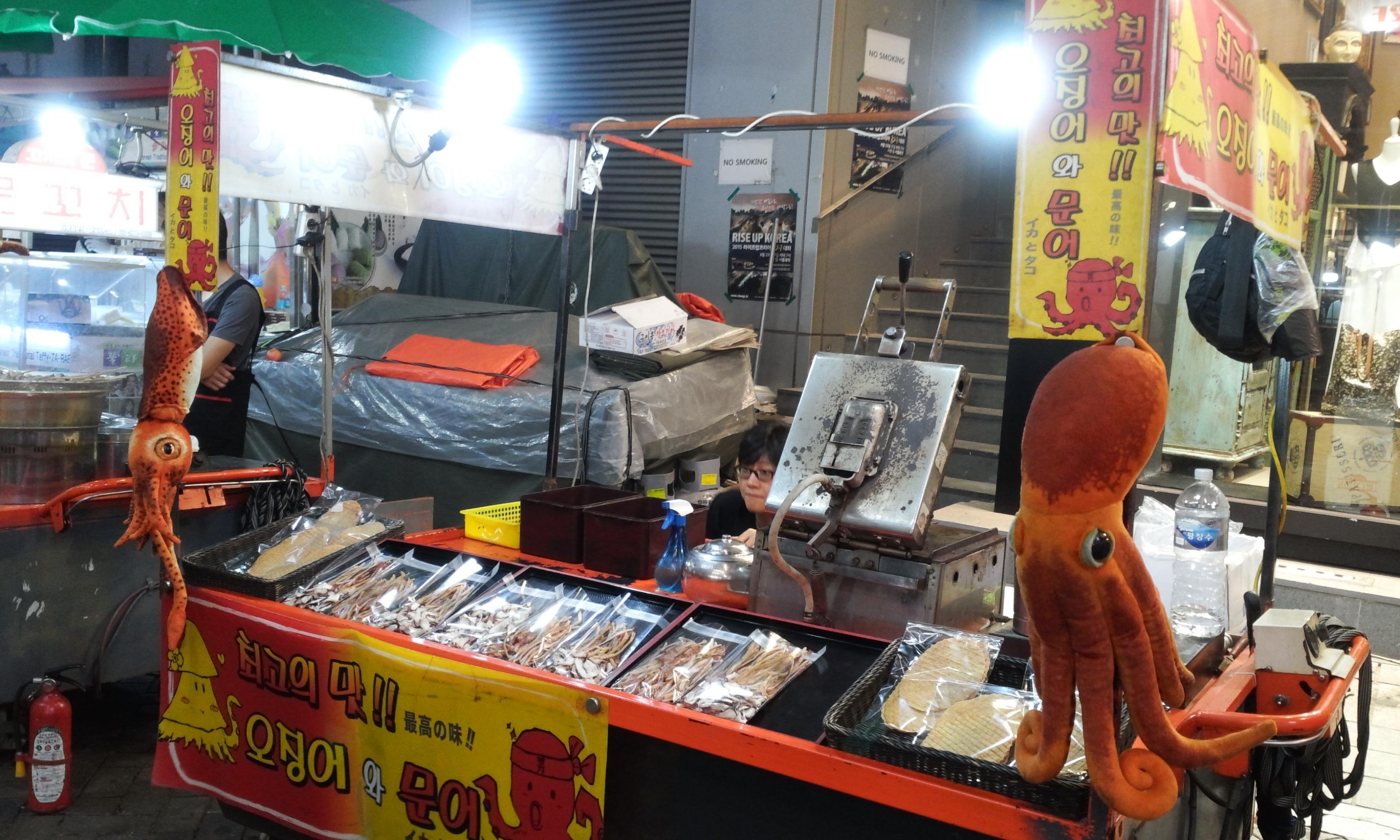 Korean-Street-Food-Dried-Squid-and-Octopus