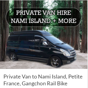 Private Van hire Nami island area Indiway