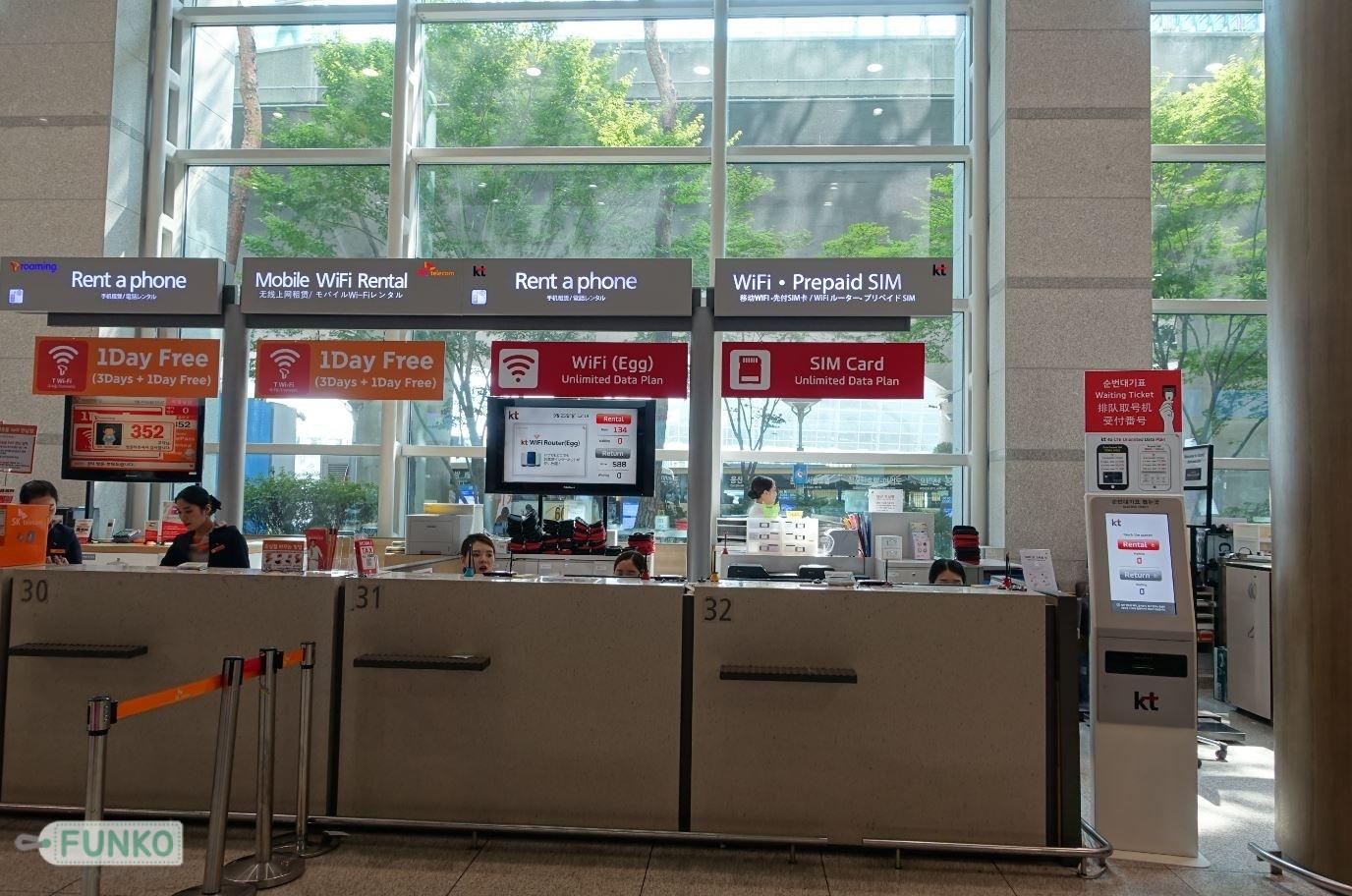 simcard incheon airport