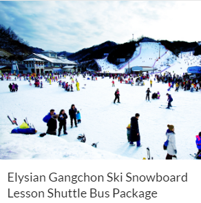 Elysian Gangchon Ski Snowboard Lesson Shuttle Bus Package Funtastic Korea