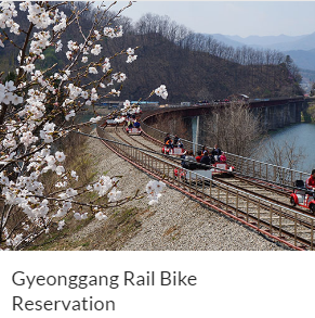 Gyeonggang Rail Bike Reservation Indiway