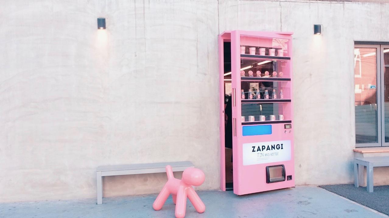 Seoul Cafe With A Pink Vending Machine Door Zapangi My Korea Trip