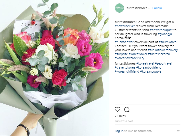 send flowers to korea