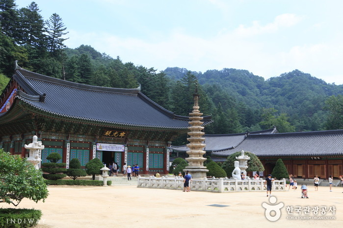 Woljeongsa Temple in Odaesan Mountain