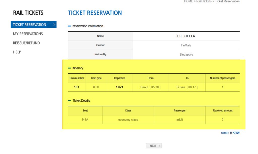 Korea Rail Pass KR Pass Ticket Reservation