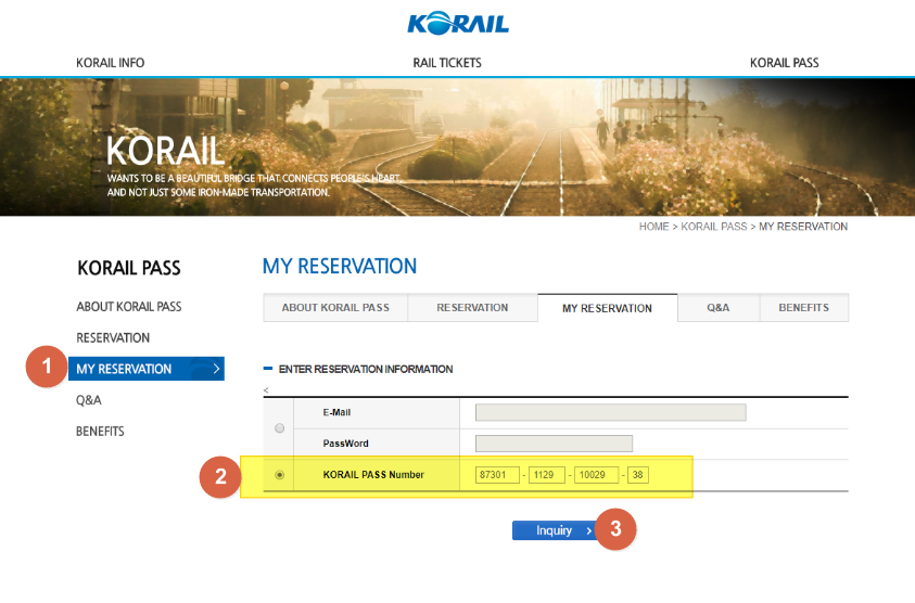 korail online booking